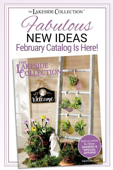 What has over 160 new items and is making its big debut? It's our #February 2020 catalog! Bursting with #spring color, this book has everything you need to shake off winter's blahs and get ready for warm weather. Start in the #bedroom with new #linens, then add some #springstyle to your wardrobe, #kitchen and #livingroom. #Outdoors, we have whimsical #gardendecor, and #liveplants are back with a blooming new selection. Shop for spring today at #LakesideCollection.