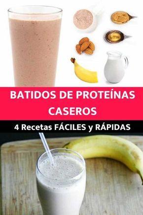 Batidos De Proteínas 4 Recetas Fáciles Y Rápidas Para Hacer En Casa Receta Batido Proteinas Casero Licuados De Proteina Recetas Fáciles