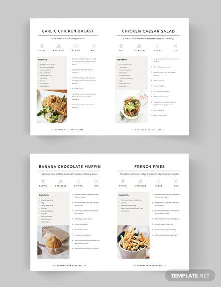 Self Publish Cookbook Template Word Psd Indesign Apple Pages Publisher Recipe Book Design Cookbook Template Cookbook Design