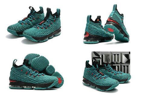 2018 Legit Cheap 2017 2018 Lebron 15 XV Christmas Sport Turquoise Black Red a21298cfc