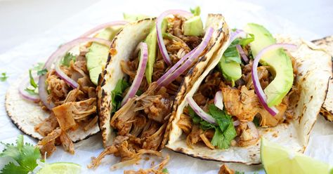 Easy Vegan Jackfruit Tacos Recipe Jackfruit Tacos Jackfruit Recipes Easy Vegan