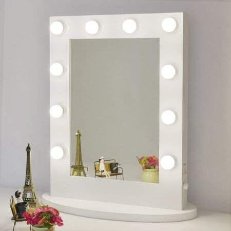 Chende Gloss White Hollywood Makeup Vanity Mirror With Light Tabletops Light Makeup Vanity Mirror With Lights Makeup Mirror With Lights Hollywood Makeup Mirror