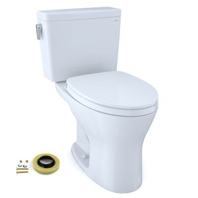 Toto Toto Drake Two Piece Elongated Dual Flush 1 6 And 0 8 Gpf Universal Height Dynamax Tornado Flush Toilet For 10 Inch Rough In With Cefiontect Dual Flush Toilet Toilet Cleaning Wall Mounted Toilet