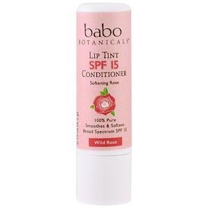 Babo Botanicals Lip Tint Balm Spf 15 Wild Rose 0 15 Oz 4 2 G Discontinued Item Tinted Lip Balm Lip Tint The Balm