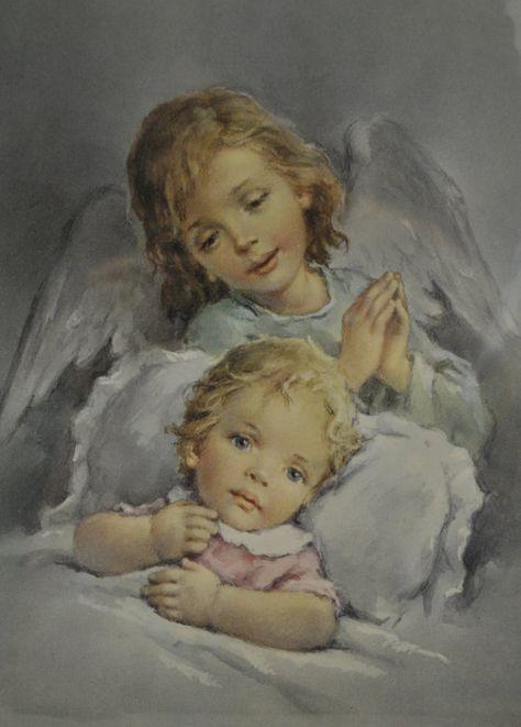 Vintage Childrens Print by keesandme