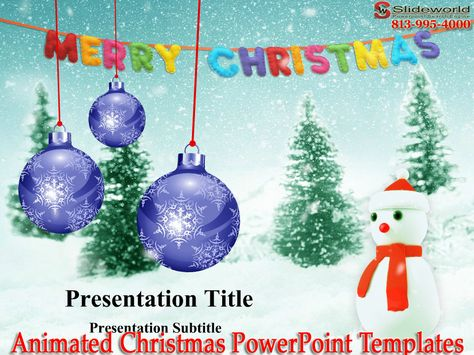 Download best animated Christmas PowerPoint templates, if you want - christmas powerpoint template