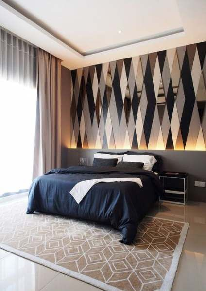 Bedroom Wallpaper Feature Wall Lamps 25 Ideas For 2019 Wall Bedroom Moderni Loznice Napady Do Loznice Domov