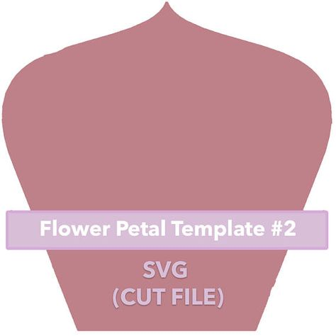 Paper Flower Template 2 Svg File Paper Flower Template Paper