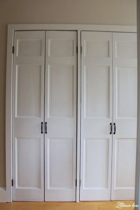 Diy Closet Door Makeover Change Bi Fold Door To Hinged Door In 1