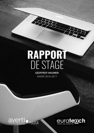 Rapport De Stage Agence Averti Présentation Rapport De