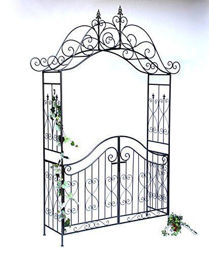 Dandibo Arche A Rose Avec Porte Portail 131872 En Metal P Https Www Amazon Fr Dp B00s11nffc Portes De Jardin En Metal Amenagement Exterieur Portail Jardin