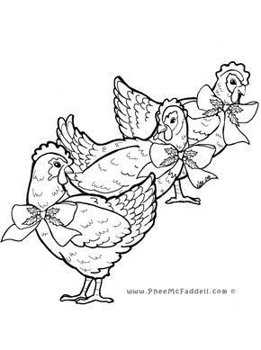 Three French Hens Colouring Page Www Pheemcfaddell Com Coloring Pages Bird Coloring Pages Coloring Books