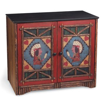 Two Feather Cabinet from Crow's Nest Trading Co. http://www.crowsnesttrading.com/product/11864/10