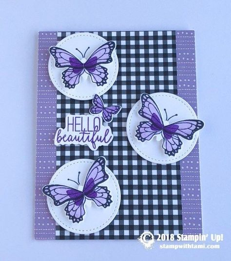 CARD: Hello Beautiful from the Butterfly Gala Stamp Set ...