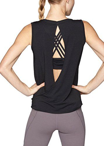 Womens Racerback Workout Tank Tops Loose Fit Athletic Yoga Tops Open Back Tank Tops for Women Summer Shirts