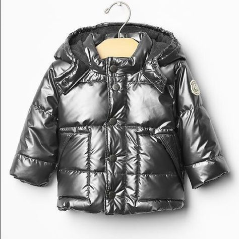 e2274d39981f Metallic silver Gap puffer jacket(boys) 6-12 month Sz6-12 months Gap ...