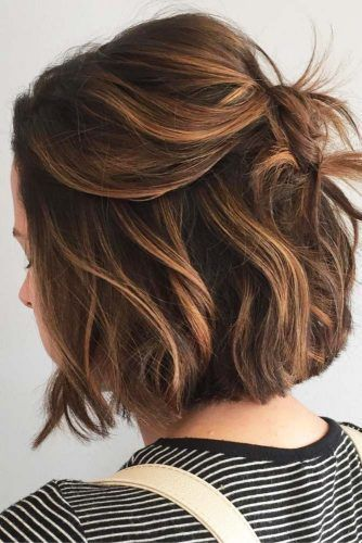 Image Result For Highlights And Lowlights For Short Brown Hair Thin Fine Hair Cute Hairstyles For Short Hair Short Hair Styles