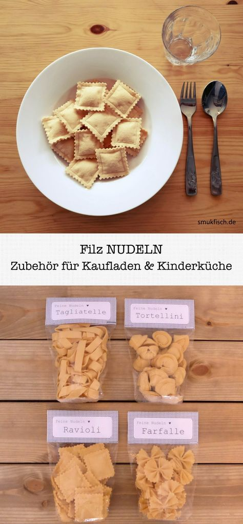 DIY Nudeln aus Filz. Zubehör für Kaufladen und Kinderküche ...