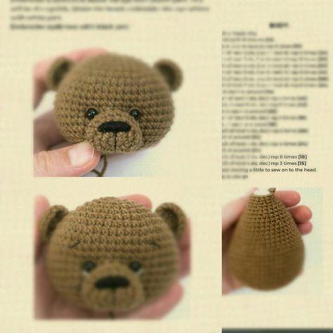 Crochet PATTERN in English amigurumi toy brown bear Soft teddy | Etsy