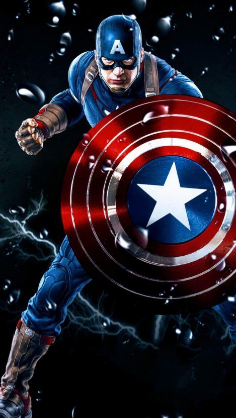 Captain America The Avenger Iphone Wallpaper Captain America Wallpaper Captain America Art Marvel Comics Wallpaper