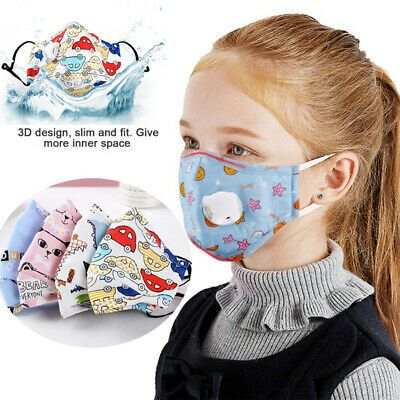 Kids Washable Pm2 5 Face Mask Reusable Anti Fog Mouth Cover Respirator Fashion Clothing Shoes Accessories Specialt In 2020 Mouth Mask Cartoon Faces Mask For Kids