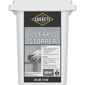 Quikrete 20 Lb Hydraulic Water Stop Cement Concrete Mix 112620 The Home Depot Fix Cracked Concrete Concrete Repair Products Concrete Mixes