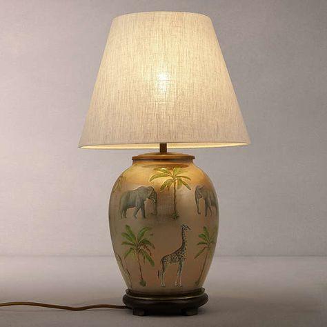 Jenny Worrall Safari Medium Urn Lamp Base Multi Lamp Bases Urn