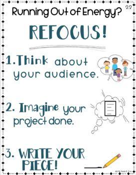 Writing Strategies Charts - Goal #2: Engagement - FREE