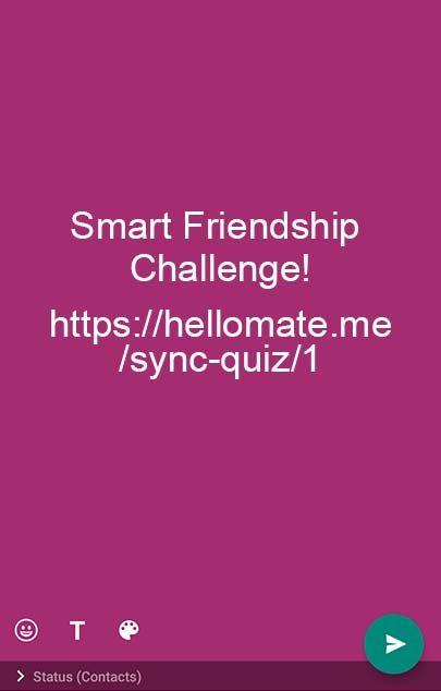 freundschafts herausforderung 2020