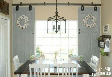 Easy And Cute Barn Door Window Window Treatments Living Room