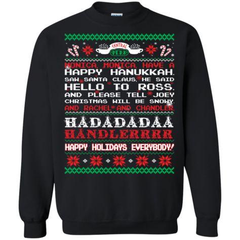 Christmas Ugly Sweater Friends Monica Rachel Chandler Ross Joey