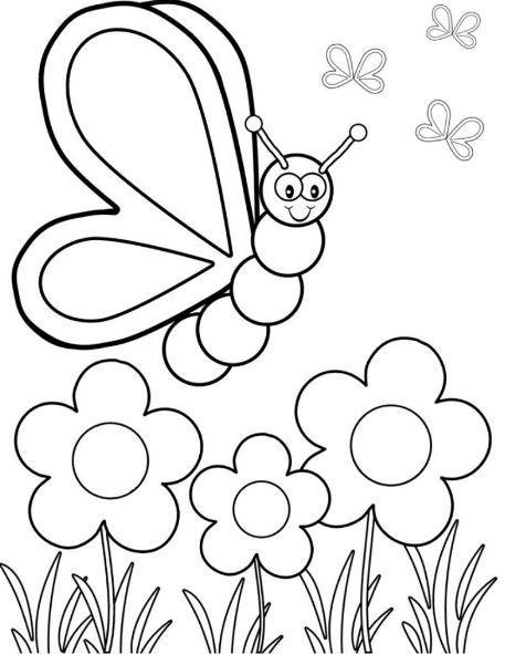 20 Dibujos De Primavera Para Colorear Con Imagenes Dibujos De