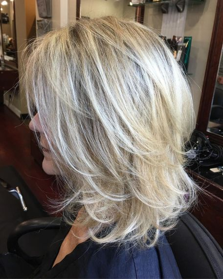 Curvy shared blonde messy