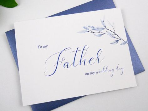 To My Mother On My Wedding Day Card To My Dad On My Wedding Day
