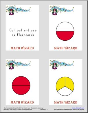 Fractions Printable Worksheets Page 1 Abcteach Fractions Flash Cards Free Math Fractions