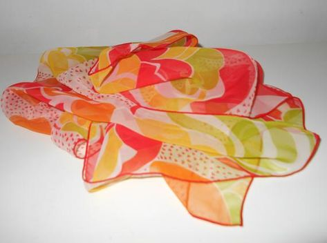 5b3bc65005bfa Vintage sheer nylon scarf, 1960s Japanese head scarves handpainted floral in  blue in 2019 | Clothing, shoes, and accessories | Vintage, Floral, Vintage  ...