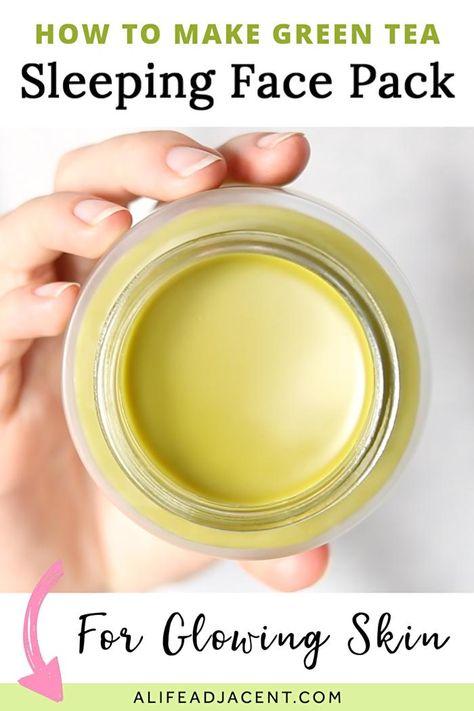 DIY Green Tea Sleeping Face Pack for Glowing Skin