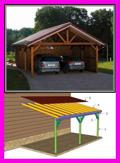 Carport Mit Gerteraum In 2020 Modern Carport Diy Carport Garage Design