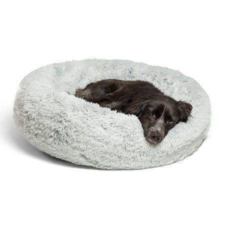 Best Friends By Sheri Luxury 30 Shag Faux Fur Donut Cuddler Pet Bed Frost Walmart Com Dog Mattresses Fleece Dog Bed Pet Beds