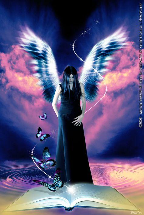 #angel #book #butterflies