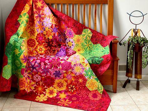 Sunflower Floral lap quilt OOAK handmade couch OOAK 54 x 54