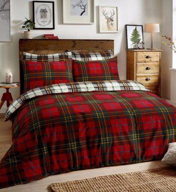 Tartan Check Red Duvet Cover Sets Luxury Duvet Covers Red Duvet