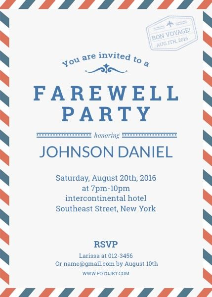Farewell Party Invitation Template Template Fotojet Party Invite Template Invitation Card Party Farewell Party Invitations