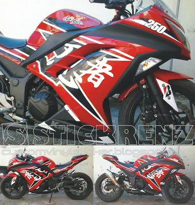 Kawasaki Ninja F Red Ninjutsu Custom Sticker Kawasaki - Custom motorcycle stickers racing
