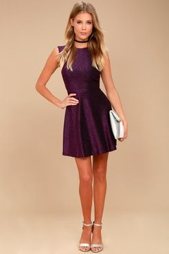 417d8d1727487 Into the Night Purple Skater Dress | Dress in 2019 | Dresses, Skater ...