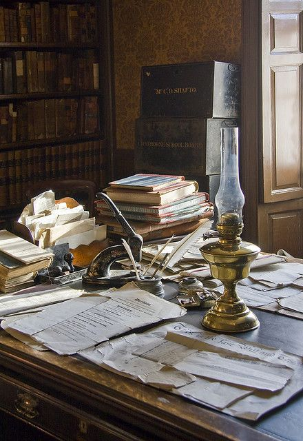 Victorian Study - One of the rooms at Beamish open air Museum, Co Durham. By Helen Fowler