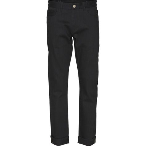 KnowledgeCotton Apparel Selvedge Jeans Regular Straight - Oak Black Rinse