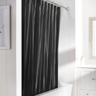 Black Ruffle Shower Curtain Wayfair With Images Vinyl Shower