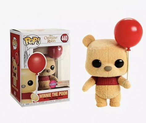 Disney Christopher Robin Winnie The Pooh Flocked Vinyl Figure - BoxLunch ExclusiveFunko Pop! Disney Christopher Robin Winnie The Pooh Flocked Vinyl Figure - BoxLunch Exclusive, Disney Pop, Disney Stuff, Funk Pop, Disney Winnie The Pooh, Harey Quinn, Disney Christopher Robin, Funko Pop Dolls, Pop Figurine, Pop Toys