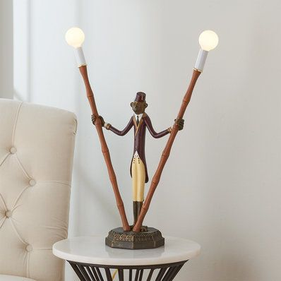 Monkey Bellhop Lamp in 2020   Candlestick lamps, Tall table